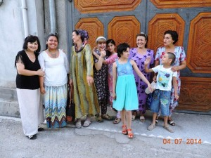 Okxana, in white, with some of IRODA's founding parents and Britta, pictured in the center.
