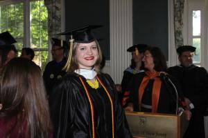 Caitlin Duffy at TCNJ graduation, 2012